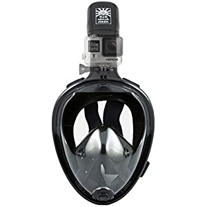 Amazon.com : H2O Ninja Full Face Snorkel Mask- S/M Pink ...