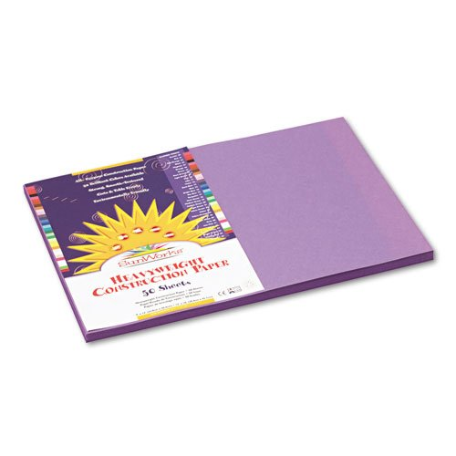 Violet 50 Sheets//Pack 58 lbs. Sold as 50 Sheet 12 x 18 Construction Paper