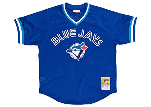 Blue Batting Practice Baseball Jersey - Mitchell & Ness Toronto Blue Jays #29 Joe Carter Mesh Batting Practice Jersey (3XL/56)