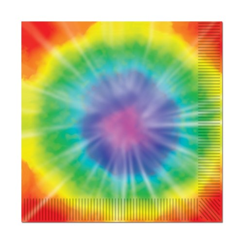 [Tie-Dyed Luncheon Napkins (2-Ply)    (16/Pkg)] (60s Costume)