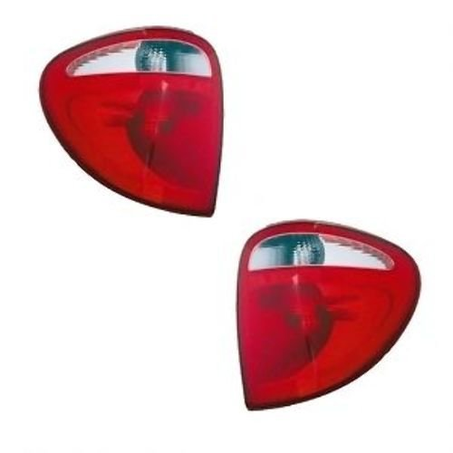 2004-2005-2006-2007 Dodge Grand Caravan & Chrysler Town & Country Taillight Taillamp Rear Brake Tail Light Lamp Pair Set Right Passenger AND Left Driver Side (04 05 06 07)