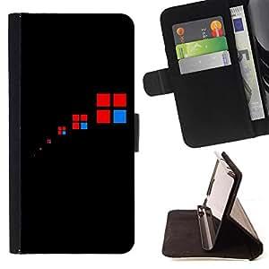 Kingstore / - Una caja cuadrada Además divide en cuatro cajas con rojo y azul colores dentro - Samsung Galaxy Note 4 IV