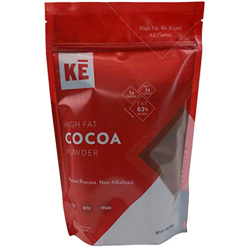 - KE Keto High Fat Cocoa Powder   1g Net Carb   43 Servings   2x Natural Fat of Traditional Cocoas   Ethically Sourced   Superior Rainforest Red Cacao Beans   Natural Cocoa (Non-Alkalized)