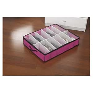 Kennedy Home Collections Under bed Shoe Box - Fuchsia