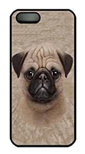 iPhone 5S Case,Kids Pug Puppy PC case Cover for iPhone 5 and iPhone 5s Black