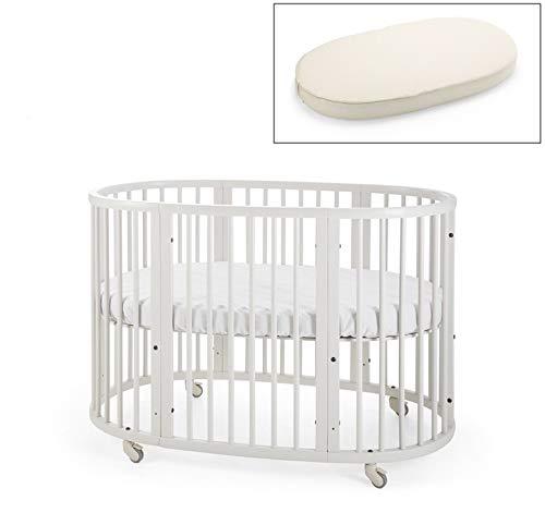 (Stokke Sleepi Crib and Organic Mattress Bundle, White)