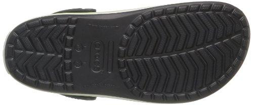 Crocs Crocband Clog Zuecos con Correa, Unisex Adulto Negro (Onyx/Volt Green)
