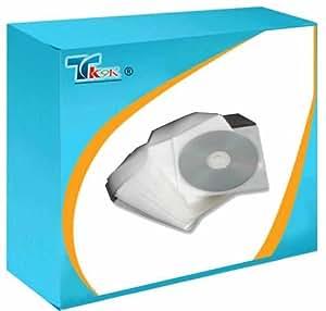 TK9K–Mangas, seguridad, PVC, CD/DVD, X100, mangas, seguridad, PVC, CD/DVD, X100, ventana y la solapa, sujeción CD/DVD, papel blanco brillante, marca nueva, de alta calidad