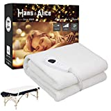 2019 Deluxe Thick Fleece Spa Massage Table Warmer Pad & Cover with EasySet Pro Controller, Multi-function Massage Table Warmer,Use As A Bed Blanket Warmer