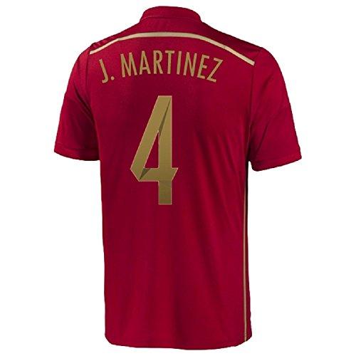 死んでいる実業家品Adidas J. Martinez #4 Spain Home Jersey World Cup 2014/サッカーユニフォーム スペイン ホーム用 ワールドカップ2014 背番号4 J.マルティネス