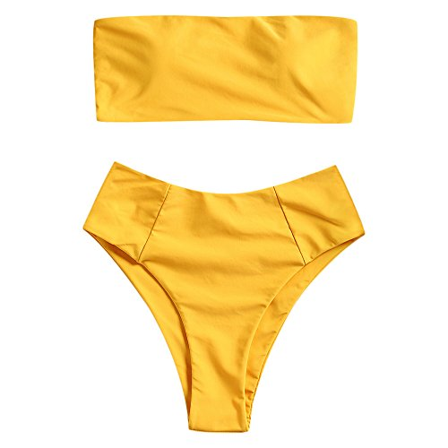 Best high waisted bikinis for women yellow for 2020