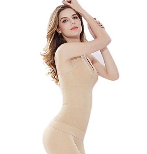 CHENGYANG Damen Control Unterhemd Seamless Cami Shapewear Bauchweg Slimming Body Shaper Tank Top Aprikose#11 9hBiQv