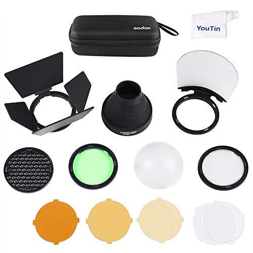 Godox AK-R1 Round Flash Head Accessories Kit for Godox V1 Speedlight and H200R Round Flash Head to AD200 AD200pro Pocket Flash