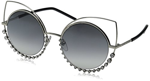 Marc Jacobs Women's Marc16s Cateye Sunglasses, Light Gold/Gray Silver, 53 mm