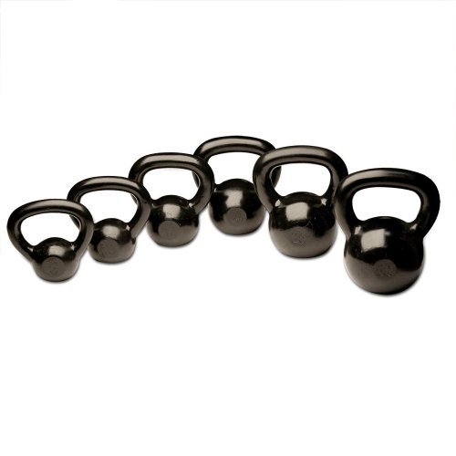Body-Solid Cast Iron Kettlebells Set, 5-30 Pounds