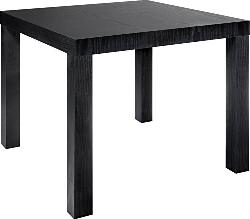 Parsons End Table, Multiple Colors. Contemporary Style and Simple Functionality. MDF Laminate. Perfect for Home and Office Use. Easy for Anyone to Assemble with No Tools Required. Easy to Care For. End Table Dimensions: 20″l X 20″w X 17.7″h. (Black)