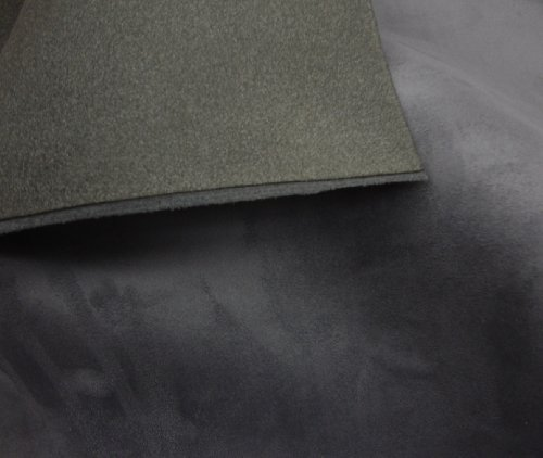 luvfabrics Charcoal Suede Headlining Foam Backed Fabric 60
