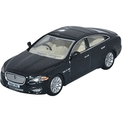 Jaguar XJ, Black, 0, Model Car, Ready Made, Oxford 1