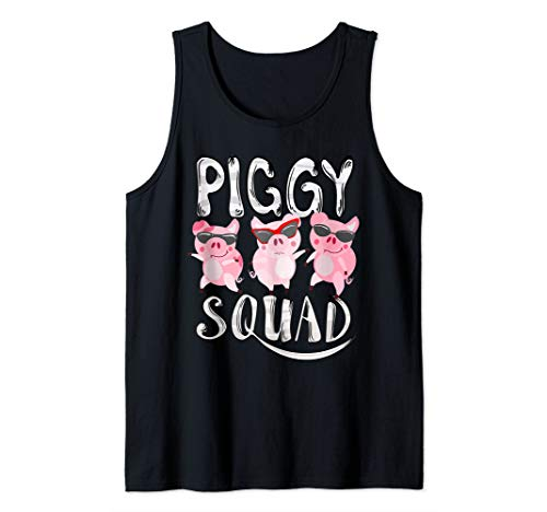 Piggy Squad | Cute Pig Farmer Animal Lovers Funny Farm Gift Tank Top