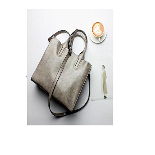 Borsa Signore Spalla Donna gray In Moda Grande Messenger Pelle Bag Borsa Atmosferica prnRZpIa