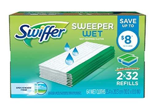 64 Counts of Sweeper Wet Refills