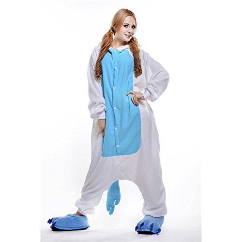 Adulto Anime Fisher Pigiama Blu Attrezzatura Unicorno Cosplay Halloween Costume Free qP71ZnWgUg