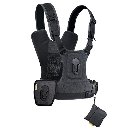 (Cotton Carrier G3 Dual Camera Harness for 2 Camera's Gray)