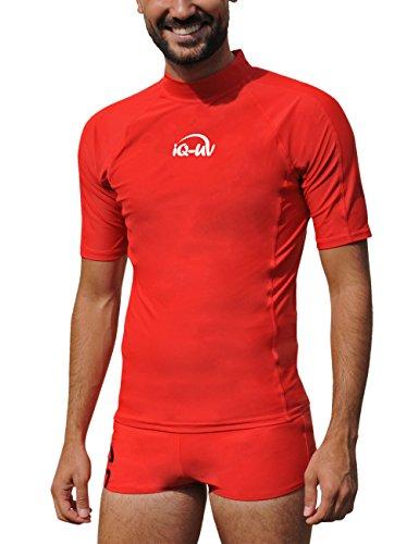 iQ-Company Herren UV 300 Shirt Slim Fit Watersport, Red, XL, 645122-2362