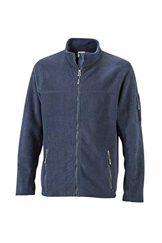 navy Giacca Materiale In Workwear Resistente Navy Men's Fleece Jacket Uomo Misto Pile xqgqHIP