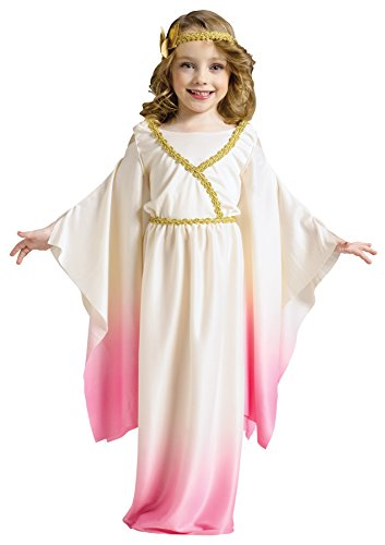 [UHC Girl's Athena Pink Ombre Toddler Goddess Gown Dress Child Halloween Costume, L (3T-4T)] (Child Athena Goddess Costumes)