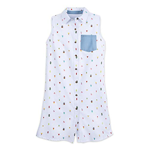 Disney Mickey and Minnie Mouse Summer Fun Woven Dress for Women Size M ()