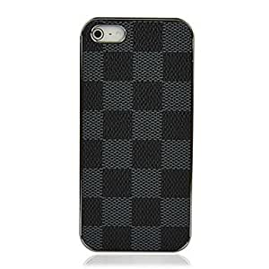 Brown Plaid Pattern Hard Case Cover Skin Protector for iPhone 5/5S New Hot --- COLOR:Brown