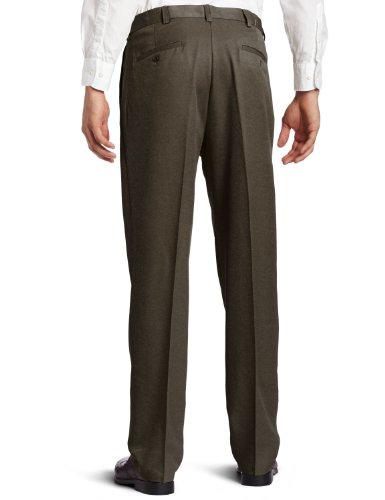 Haggar Men's Cool 18 Hidden Expandable Waist Pleat Front Pant