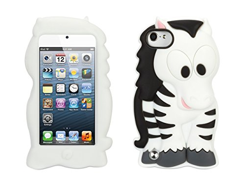 Griffin Zebra KaZoo Kids Case for iPod Touch 5th/ 6th gen. - Fun animal friends for iPod touch (5th gen)
