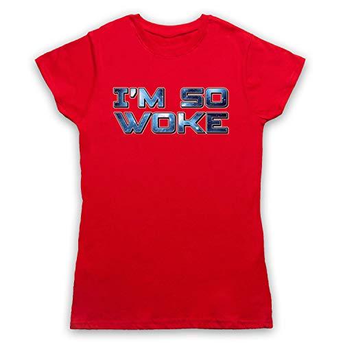 Hipster amp; Rojo Slogan Funny Art Para My Icon So Mujer Woke I'm Clothing Camiseta OxqAqZ8wEf