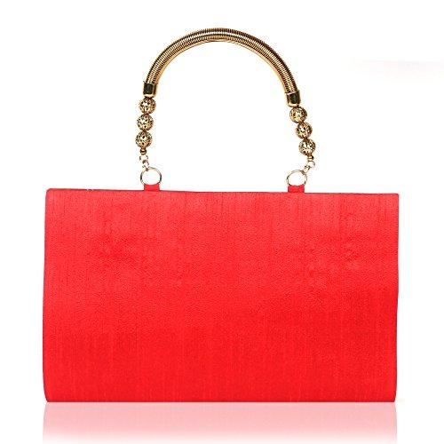 Aditi Trends - Women's Handemade & Handpainted Made of Art Raw Silk Red Clutch - Eco-friendly Handbag