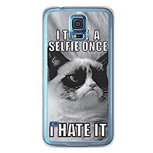 Selfie Samsung Galaxy S5 Transparent Edge Case - Hashtag Selfie Icons