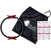32bfit Pilates Ring - Full Body Toning Fitness Magic Circle with 4 Page Exercise Guide and Carry Bag - High Resistance Magic Ring for Strength, Flexibility, Posture and Sculpting