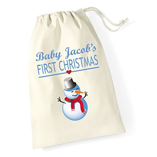 Babys Boy First Christmas Santa Sack