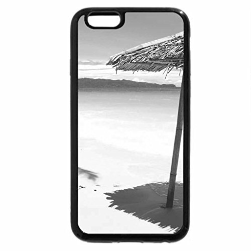 iPhone 6S Case, iPhone 6 Case (Black & White) - On the White Beach