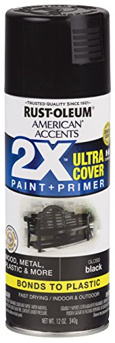 Rust-Oleum 327870 American Accents Spray Paint, 12 oz, Gloss Black ()