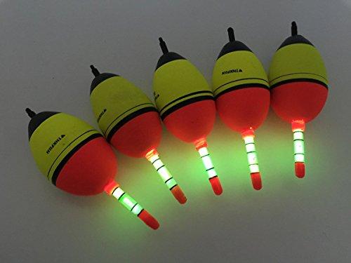 5 Stück 15g THKFISH EVA Fischen Schwimme + 10 Stück Knicklichter Posen Sbirolinos Beleuchtung Schaum
