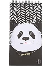 YM Sketch Panda Printed To Do List Notebook - Black and White