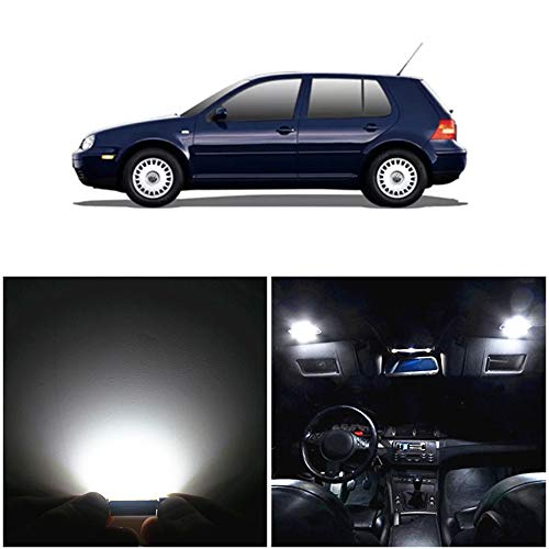 WLJH 12pieces 6000k Pure White Super Bright 2835 Chip Canbus Error Free Car LED Interior Lighting Package Kit For Volkswagen VW GOLF 4 MKIV MK4 GTI 337 20ae R32