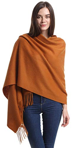 Cashmere Wrap Shawl Stole for Women, Winter Extra Large(79in x 28in) Wool Scarf, - Wrap Scarf Wool Thin