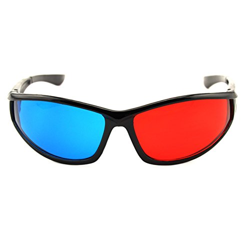 Red-blue Cyan 3D Glasses,Anaglyph Dimensional 3D Vision Glasses for TV Movie Game DVD