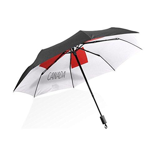 LEISISI Canada Ribbon Portable Umbrellas Compact Folding Windproof UV Protection Umbrellas