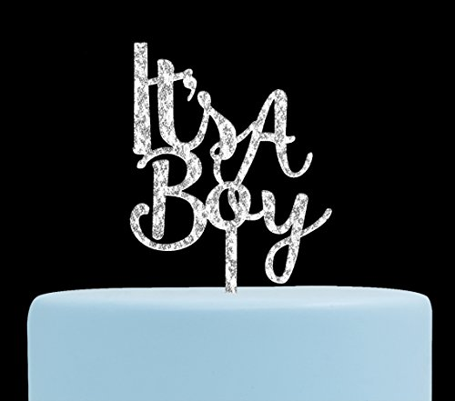 Firefairy It's A Boy Acrylic Cake Topper for Boy Baby Shower, Gender Reveal Party Decorations( -