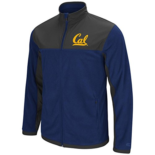 Cal Golden Bears Mens Jacket - Cal Berkeley Golden Bears Men's Full Zip Fleece Jacket (XXX-Large)