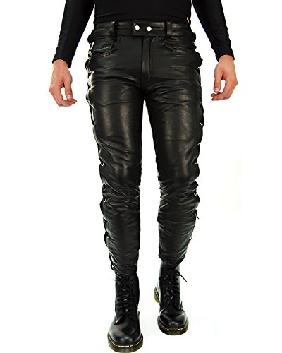 Bockle 1991 lace-up leather pants W31/L32